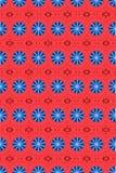 2蓝色圈子模式红色 库存照片