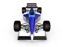 2蓝色汽车f1赛跑的卷 免版税图库摄影