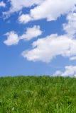2蓝色草绿色小山天空 免版税库存图片