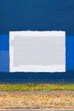 2蓝色街道画墙壁 免版税库存图片