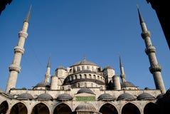 2蓝色moschea sultanahmet 库存图片