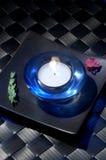 2蜡烛台 免版税库存照片