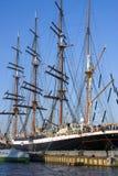 2被停泊的三桅帆 免版税图库摄影