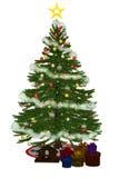 2被发送的christmastree PR 库存图片