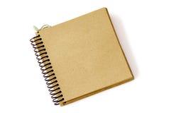 2被回收的笔记本纸张 免版税库存照片