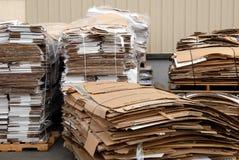 2被回收的纸板 库存图片