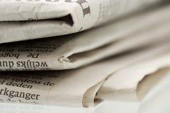 2被折叠的报纸 免版税库存照片