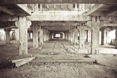 2被放弃的建造场所 免版税库存图片