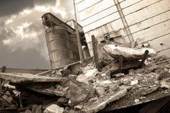 2被毁坏的工厂 免版税库存图片