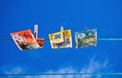 2被洗涤的货币 库存照片