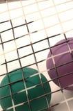 2设备短网拍墙球 免版税库存照片