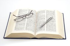 2词典 免版税图库摄影