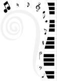 2谱号钢琴 免版税库存图片