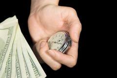 2货币时间 库存图片