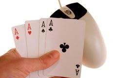 2赌博的线路 免版税库存图片