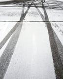 2轮胎跟踪 免版税库存图片