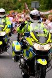 2辆摩托车警察 图库摄影