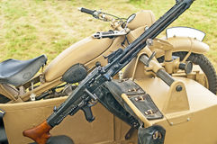 2辆摩托车边车战争世界 免版税库存图片