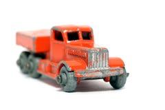 2辆汽车搬家工人老头等玩具 免版税库存照片