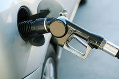 2辆汽车燃料管 免版税库存图片