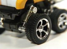 2辆汽车玩具轮子 免版税库存图片