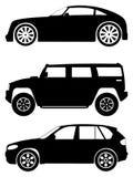 2辆汽车被设置的向量 免版税图库摄影