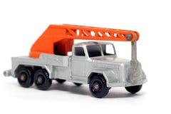 2辆汽车起重机deutz magirus老玩具卡车 免版税库存照片