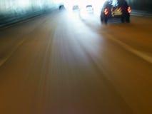 2辆汽车隧道 免版税库存照片
