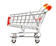 2辆购物车模型购物 图库摄影