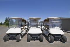 2辆购物车高尔夫球 免版税库存照片