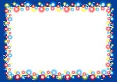 2边界圣诞节框架光 免版税库存照片