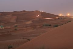 2迪拜沙丘 库存图片