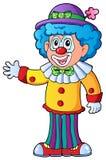 2部动画片小丑图象 图库摄影