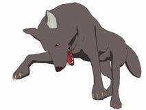 2部动画片样式狼 向量例证