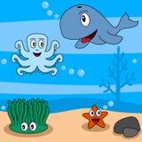 2部动画片生活海洋 向量例证