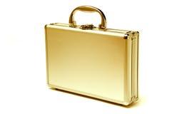 2金黄美丽的公文包 库存照片
