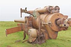 2门大炮时代生锈的战争世界 免版税库存图片