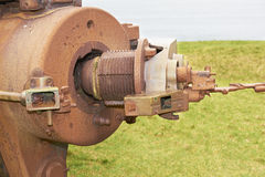2门大炮时代生锈的战争世界 库存图片