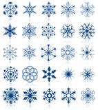 2集合形状雪花 图库摄影