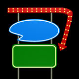 2霓虹减速火箭的符号 免版税库存照片