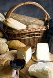2面包干酪 库存照片