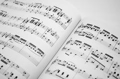 2音乐纸张 图库摄影