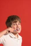 2颗男孩掠过的牙 库存图片