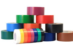 2颜色每个磁带 图库摄影