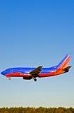 2飞机着陆乘客 库存图片