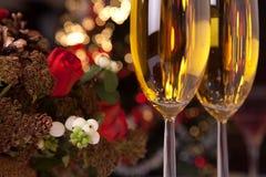 2香槟圣诞树 库存图片