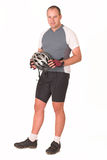 2骑自行车者 库存照片