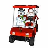 2高尔夫球圣诞老人 免版税图库摄影