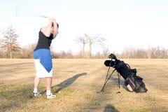 2高尔夫球摇摆 库存图片
