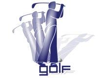 2高尔夫球运动员 免版税图库摄影